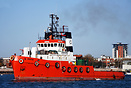 The Salvage tug Spartan departs from Portsmouth for Turkey with the ex...