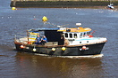 Fishing Boat 'Dominator-A' seen here returning to Whitby harbour
