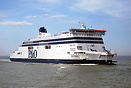 P&O Ferries Spirit of Britain enters Calais after a crossing from ...