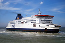 P&O ferries Pride of Canterbury enters Calais after a crossing fro...