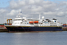 National Geographic Explorer berthed at Southampton's 202 berth in the...