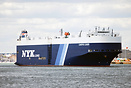 The Vehicle carrier Canopus Leader departs from Southampton for Panama
