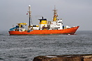 The survey vessel Aquarius departing Teesport