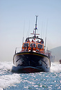 Eastbourne's new lifeboat RNLB Diamond Jubilee at speed on the day of ...