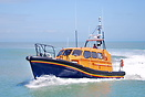 The trial lifeboat off Dungeness