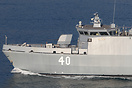 The new Katanpää class vessel of the Finnish Navy with a new...