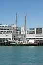 First visit to Auckland of Greenpeace Rainbow Warrior III.