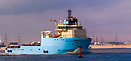 Offshore Tug/Supply ship Maersk Tracer outbound Teesport
