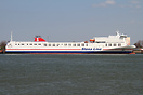The Stena Transporter is the first of 2 new multi purpose roro ferries...