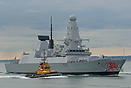 HMS Dragon (D35), the fourth Type 45 Destroyer to enter service, arriv...