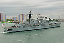 HMS Gloucester (D96), is seen in Portsmouth Harbour on the 11th May 20...