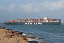 Container Ship, NYK Altair, entering Southampton Water on the 1st July...