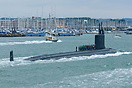 US Navy Submarine, USS Virginia (SSN 774), arriving at Portsmouth on t...