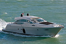 A Pershing 72 motor yacht, named Looney, seen in Portsmouth Harbour on...