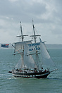 The Sea Cadets Training Ship, TS Royalist, approaching Portsmouth Harb...