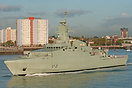 The new Oman Navy Corvette, Al Rahmani (Q41), which is still under the...