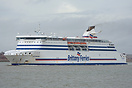 Cap Finistere outbound from Portsmouth on the 8th January 2014.