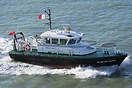 Admiralty Pilot vessel, SD Solent Racer, entering Portsmouth Harbour o...