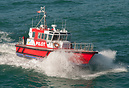Pilot vessel Tarakena ready to embark pilot from ship in Hawkes Bay Ne...