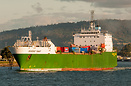 Searoad Tamar leaving Devonport Tasmania on her nightly crossing of Ba...
