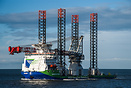 Heavy lift/ Jack up vessel Innovation arriving Teesport for Demob/Mob ...