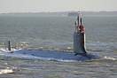 USS New Hampshire (SSN778), a Virginia Class nuclear powered attack su...