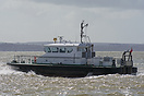 The Admiralty Pilot Vessel, SD Solent Spirit, is seen departing Portsm...