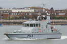 The P2000 Archer Class Patrol Boat, HMS Example (P165), seen departing...