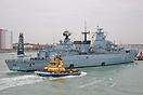 FGS Bayern (F217), arriving in Portsmouth Harbour on the 11th April 20...