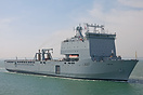 RFA Lyme Bay (L3007), paying a rare visit to Portsmouth on the 5th May...
