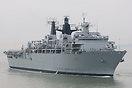 HMS Bulwark (L15), approaching Portsmouth Harbour on the 17th May 2014...