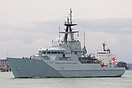 HMS Tyne (P281), departing Portsmouth on the 7th July 2014.