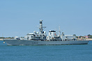 HMS Iron Duke (F234), departing Portsmouth on the 20th June 2014, for ...