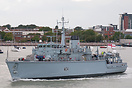 HMS Middleton (M34), departing Portsmouth on the 18th August 2014. The...