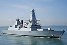 HMS Duncan (D37) returning to Portsmouth on the 7th August 2014.
