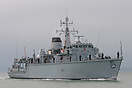 HMS Quorn (M41), returning to Portsmouth on the 2nd September 2014, af...