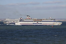 Cap Finistere and Armorique passing by each other on the Solent